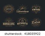 set of retro emblems. vintage... | Shutterstock .eps vector #418035922