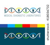 genome logo of medical clinic... | Shutterstock .eps vector #418036732