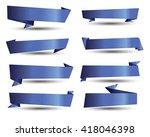 banner ribbon vector set | Shutterstock .eps vector #418046398