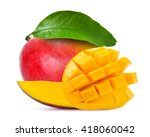 mango isolated on white | Shutterstock . vector #418060042