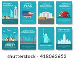 set of usa country ornament... | Shutterstock .eps vector #418062652