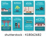 set of japan country ornament... | Shutterstock .eps vector #418062682