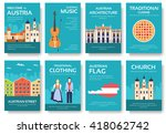 set of austria country ornament ... | Shutterstock .eps vector #418062742