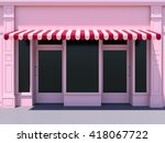 Pink Modern Shopfront In The...