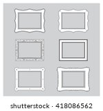 picture frame flat vector.... | Shutterstock .eps vector #418086562