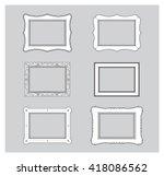 picture frame flat vector.... | Shutterstock .eps vector #418086562