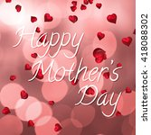 happy mothers day message on... | Shutterstock . vector #418088302