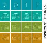 2017 creative colorful calendar ...   Shutterstock .eps vector #418089922