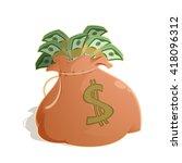bag with money   Shutterstock . vector #418096312