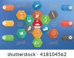 education concept info graphic... | Shutterstock .eps vector #418104562