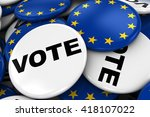 eu elections concept image  ... | Shutterstock . vector #418107022