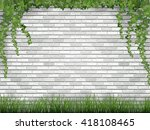 rural background. ivy and grass ... | Shutterstock .eps vector #418108465