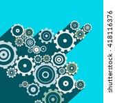 cogs   gears. vector long... | Shutterstock .eps vector #418116376