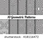 set of 10 abstract patterns.... | Shutterstock .eps vector #418116472