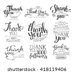 thanking cards for the social... | Shutterstock .eps vector #418119406