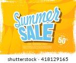 summer sale template banner | Shutterstock .eps vector #418129165