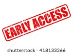 early access red stamp text on...   Shutterstock .eps vector #418133266