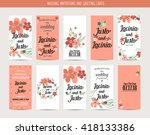 wedding invitation card with... | Shutterstock .eps vector #418133386