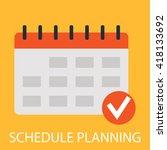 schedule planning   Shutterstock .eps vector #418133692