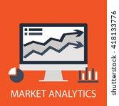 market analytics | Shutterstock .eps vector #418133776
