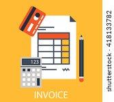 invoice icon.bill icon. | Shutterstock .eps vector #418133782