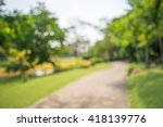 abstract blur city park bokeh... | Shutterstock . vector #418139776