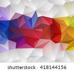 vector abstract geometric multi ...   Shutterstock .eps vector #418144156