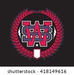 ws monogram | Shutterstock .eps vector #418149616