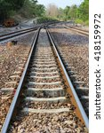the length of the railway track ... | Shutterstock . vector #418159972