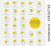 trendy thin line academic... | Shutterstock .eps vector #418162765