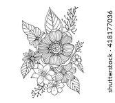 flower doodle vector   Shutterstock .eps vector #418177036
