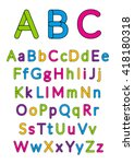 english alphabet. vector... | Shutterstock .eps vector #418180318