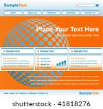 global website design. | Shutterstock .eps vector #41818276