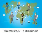 global business. business... | Shutterstock .eps vector #418183432