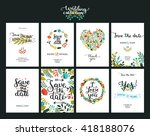 save the date cards  wedding... | Shutterstock .eps vector #418188076