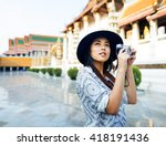 photographer travel sightseeing ... | Shutterstock . vector #418191436