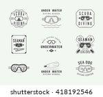 set of vintage scuba diving... | Shutterstock .eps vector #418192546