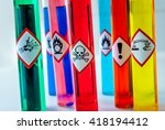 chemical toxic pictogram | Shutterstock . vector #418194412