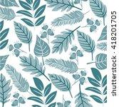 floral pattern | Shutterstock .eps vector #418201705