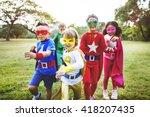 superhero kids aspiration... | Shutterstock . vector #418207435