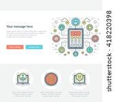 flat line business concept web... | Shutterstock .eps vector #418220398