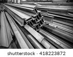 steel factory floor  stacked... | Shutterstock . vector #418223872