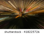 running focus light in  city | Shutterstock . vector #418225726