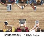 internet information digital... | Shutterstock . vector #418234612