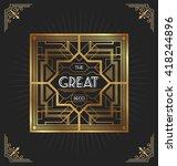 art deco frame design for your... | Shutterstock .eps vector #418244896