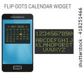 flip dots calendar widget design
