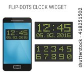 flip dotc clock widget design