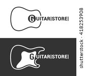 guitar store or music shop... | Shutterstock .eps vector #418253908
