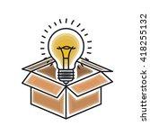 bulb light icon design    Shutterstock .eps vector #418255132