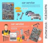car service car repair banner... | Shutterstock .eps vector #418260496